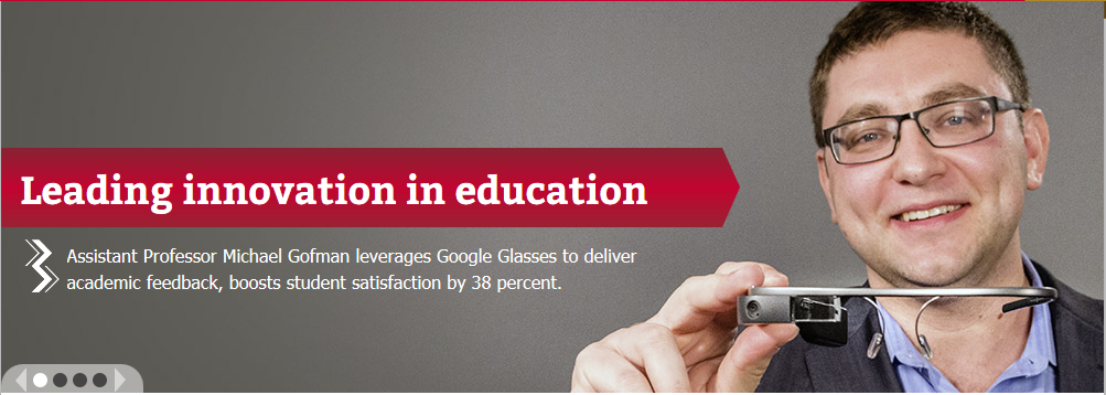 Michael Gofman: Google Glass Usage for Providing Feedback to Students